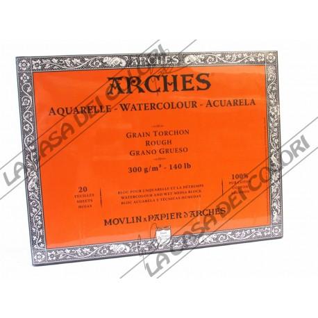 ARCHES AQUARELLE - 18x26 cm - 300 g/mq GRANA GROSSA / RUVIDA - BLOCCHI COLLATI 4 LATI