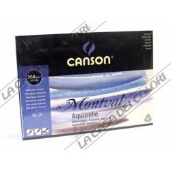 CANSON MONTVAL - 24x32cm - 300 g/mq - GRANA FINE - BLOCCO 12 FG - ACQUERELLO