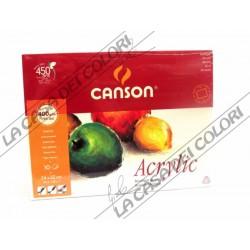 CANSON ACRILICO - 24x32 cm 400 g/mq - GR. FINE - BLOCCO 10 FG - PER ACRILICI