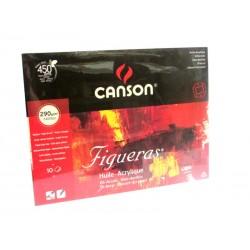 CANSON FIGUERAS - 24x33cm 290 g/mq - BLOCCO 10 FG - CARTA TELATA