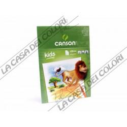 CANSON KIDS - A4 - 90 g/mq - BLOCCO 30 FG - BLOCCO DA DISEGNO PER BAMBINI