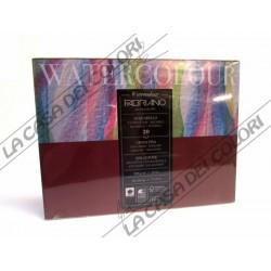 FABRIANO - WATERCOLOUR - 18x24cm - 200 g/mq - GRANA FINE - CARTA COTONE 25%