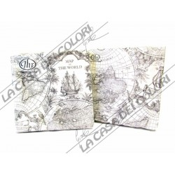 IHR - TOVAGLIOLI LUNCH - MAP OF THE WORLD W - 33x33cm - 20 PZ - L499490 - 12-08