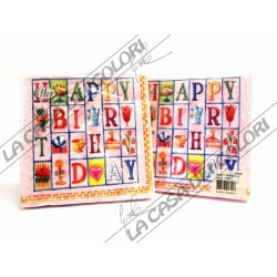 IHR - TOVAGLIOLI LUNCH - HAPPY BIRTHDAY ROSE - 33x33cm - 20 PZ - L75850 - 44