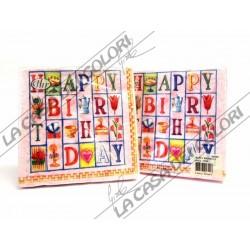 IHR - TOVAGLIOLI LUNCH - HAPPY BIRTHDAY ROSE - 33x33cm - 20 PZ - L75850 - 44