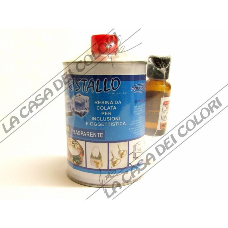 prochima cristallo 500 gr resina poliestere da