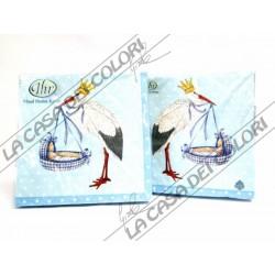 IHR - TOVAGLIOLI LUNCH - BABY AIRWAYS BLUE - 33x33cm - 20 PZ - L415340 - 50