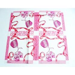 IHR - TOVAGLIOLI LUNCH - BABY SHOWER ROSE - 33x33cm - 20 PZ - L498350 - 12-13