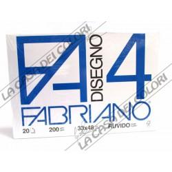 FABRIANO -  F4 - 220 g/mq RUVIDO - 33x48cm - BLOCCO 20FG 4 ANGOLI