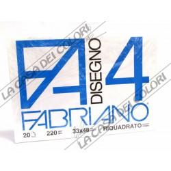 FABRIANO -  F4 - 220 g/mq RIQUADRATO - 33x48cm - BLOCCO 20FG 4 ANGOLI