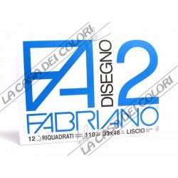 FABRIANO - F2 - 110 g/mq RIQUADRATO - 33x48cm - BLOCCO 12FG 4 ANGOLI