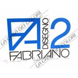 FABRIANO - F2 - 110 g/mq LISCIO - 33x48cm - BLOCCO 12FG 4 ANGOLI