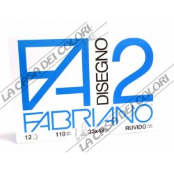 FABRIANO - F2 - 110 g/mq RUVIDO - 33x48cm - BLOCCO 12FG 4 ANGOLI