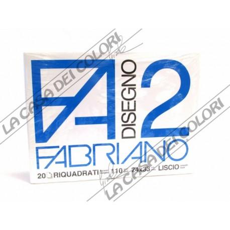FABRIANO - F2 - 110 g/mq RIQUADRATO - 24x33cm - BLOCCO 12FG 4 ANGOLI