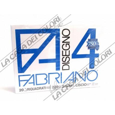 FABRIANO -  F4 - 220 g/mq RIQUADRATO - 24x33cm - BLOCCO 20FG 4 ANGOLI