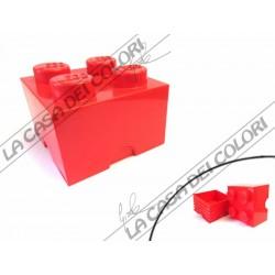 SCATOLA LEGO - 4 INCASTRI - 250x252x181mm - GIALLA - UFFICIALE