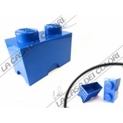 SCATOLA LEGO - 2 INCASTRI - 125x252x181mm - BLU - UFFICIALE