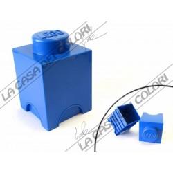 SCATOLA LEGO - 1 INCASTRO - 125x127x181 mm - BLU - UFFICIALE
