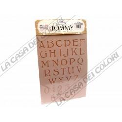 TOMMY ART - STENCIL 21x30cm - SP180 - ALFABETO E NUMERI